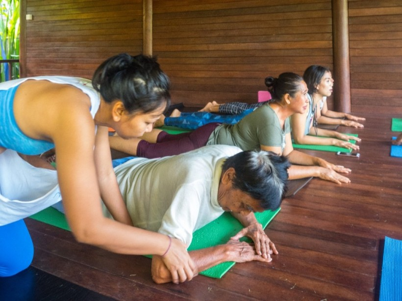 bali senior elderly yoga