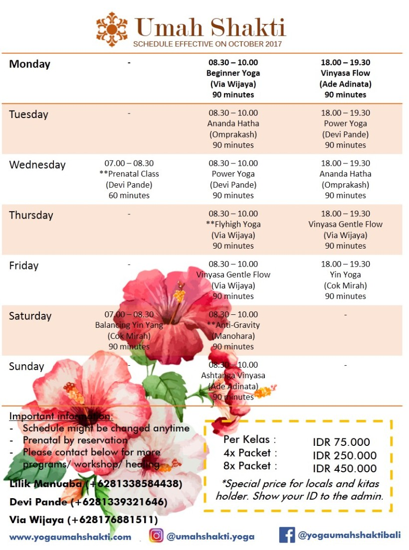 Oct-Schedule-UmahShakti